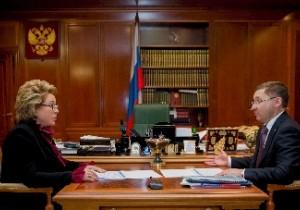 Председатель Совета Федерации Валентина Матвиенко встретилась с губернатором Тюменской области Владимиром Якушевым